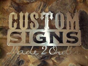 Regional Profile Cutters custom sign