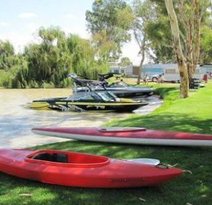 Westbrook Park canoes